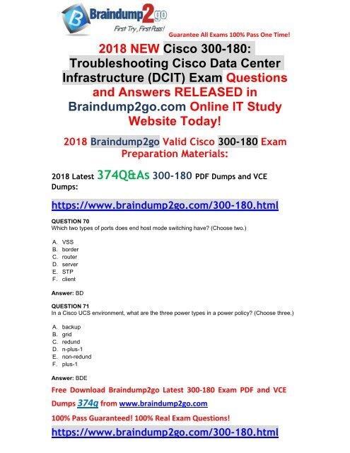 2018-April-Version)New 300-180 Dumps VCE 334Q Free Share(70-80)