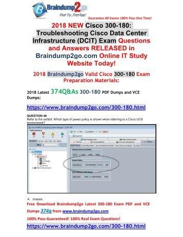 (2018-April-Version)New 300-180 PDF and VCE Dumps 334Q Free Share(48-58)