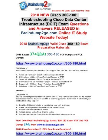 (2018-April-Version)New 300-180 VCE Dumps 334Q Free Share(37-47)