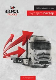 Elpol Trucks - folder A4 wynajem