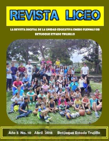 REVISTA LICEO ABRIL2018