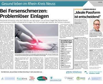 Gesund leben im Rhein-Kreis Neuss  -11.04.2018-