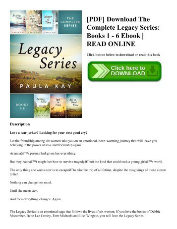 [PDF] Download The Complete Legacy Series Books 1 - 6 Ebook  READ ONLINE