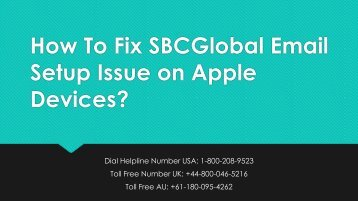 18002089523 Fix SBCGlobal Email Setup Issue on Apple Devices
