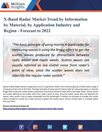 X-Band Radar Market  Research – Industry Size, Share, Trends Analysis and Growth Forecast to 2022