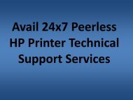 Get 24x7 Peerless HP Printer Technical Support Services