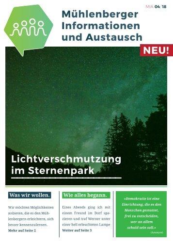Mühlenberger Informationen und Austausch | MIA 04/18