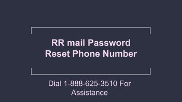 RR mail Password Reset Phone Number