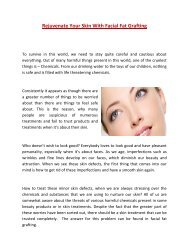 Rejuvenate Your Skin With Facial Fat Grafting