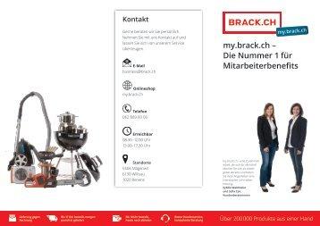 my.brack.ch-Die Nummer 1 für Mitarbeiterbenefits