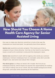 How Should You Choose A Home Health Care Agency for Senior Assisted Living