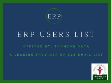 ERP Customers List - ERP Users Mailing List