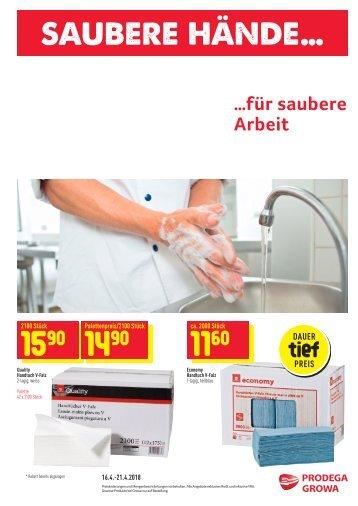 Saubere Hände... für saubere Arbeit