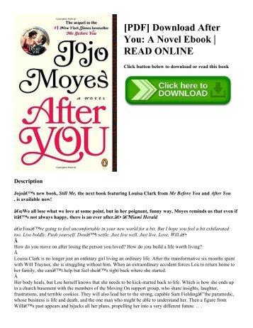 [PDF] Download After You A Novel Ebook  READ ONLINE
