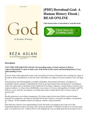 [PDF] Download God A Human History Ebook  READ ONLINE