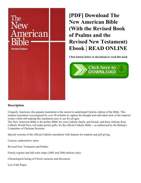 PDF Download The New American Bible With The Revised Book