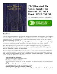 [PDF] Download The Ancient Secret of the Flower of Life  Vol. 1 Ebook  READ ONLINE