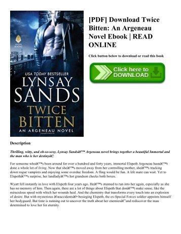 [PDF] Download Twice Bitten An Argeneau Novel Ebook  READ ONLINE