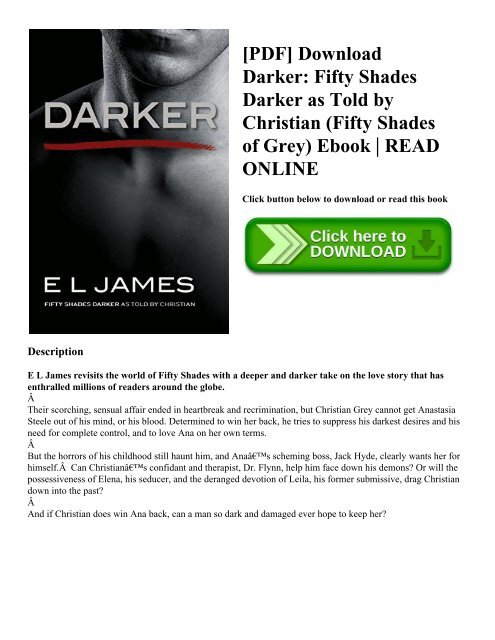 Fifty Shades Darker Pdf Epub