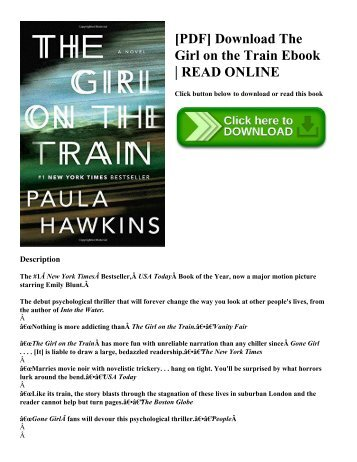 [PDF] Download The Girl on the Train Ebook  READ ONLINE