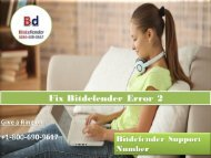 Fix Bitdefender Error 2 Call 1800-690-9617