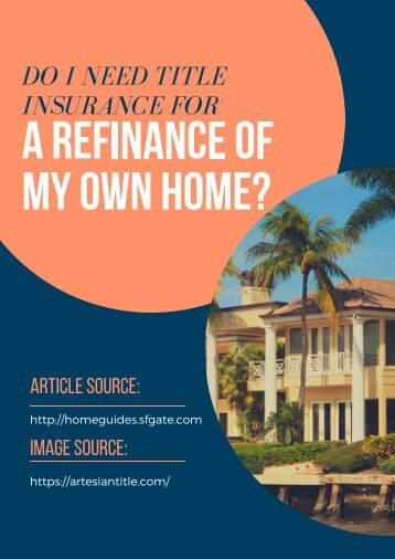 Do I Need Title Insurance for a Refinance of My Own Home