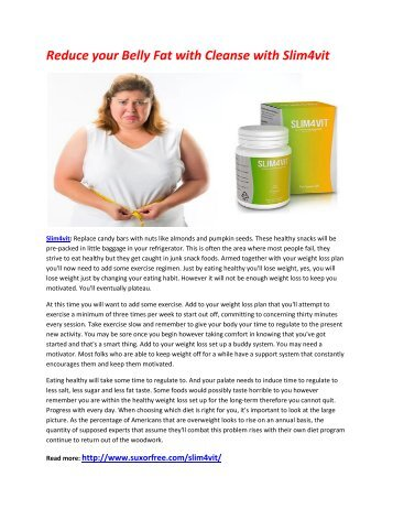 Make your Body slimmer and healthier With Slim4vit