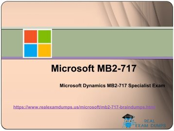 Download MB2-717 Exam Real Questions - MB2-717 Exam Study Material RealExamDumps