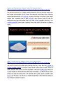 Supplier and Manufacturer of Quartz Powder Shri Vinayak Industry - Page 2