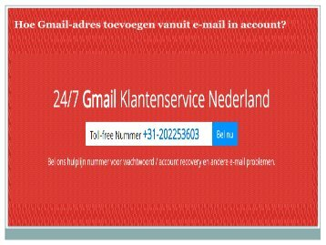 Hoe Gmail-adres toevoegen vanuit e-mail in account