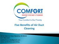 Five Benefits of Air Duct Cleaning