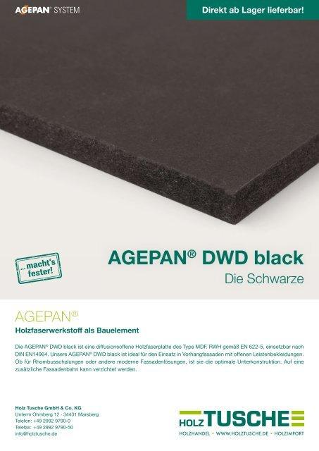 AGEPAN® DWD black
