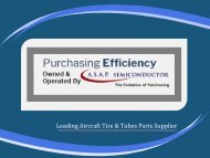 Purchasing Efficiency Aircraft Tire Parts Supplier