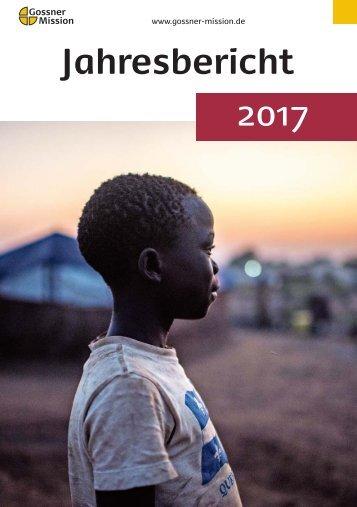 Gossner Mission Jahresbericht 2017