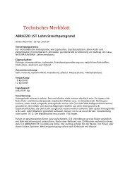 Technisches Merkblatt - Casa NATURA OnlineShop