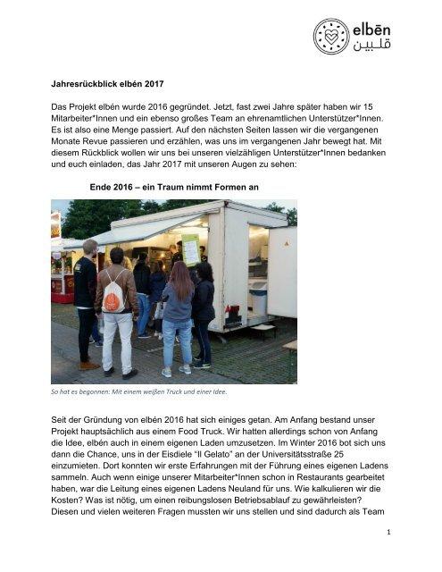 elbén Jahresrückblick 2017