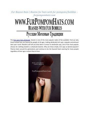 Fur Beanie Hats