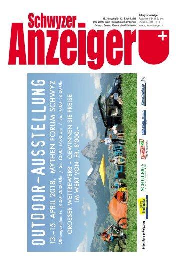 Schwyzer Anzeiger –Woche 14 – 6. April 2018