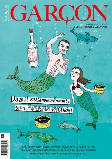 Magazin GARCON - Essen, Trinken, Lebensart Nr. 48