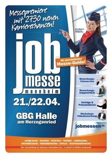 Der Messe-Guide zur 1. jobmesse mannheim