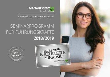 Seminarprogramm für Führungskräfte 2018/2019
