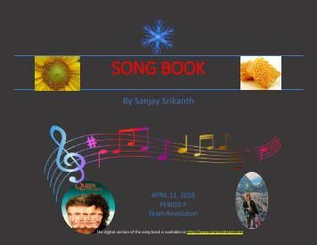 Sanjay Srikanth - Song Book Final