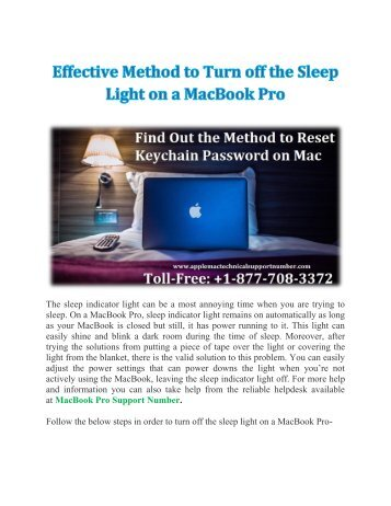 Effective Method to Turn off the Sleep Light on a MacBook Pro