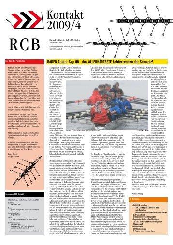 Ausgabe RCB KONTAKT 04/2009 - Ruderclub Baden