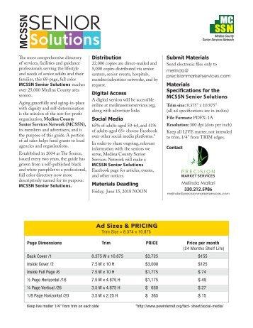 MCSSN Senior Solutions Media Kit