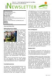 Gäa Newsletter 09 2011