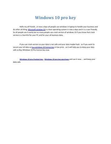 Windows 10 pro key