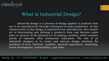 industrial design course in pune