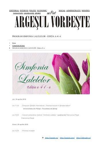 PROGRAM SIMFONIA LALELELOR
