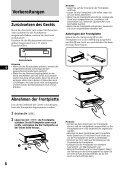 Sony CDX-C880R - CDX-C880R Istruzioni per l'uso Tedesco - Page 6